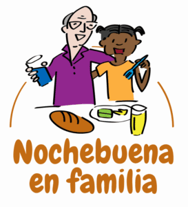 Logotipo Nochebuena en familia