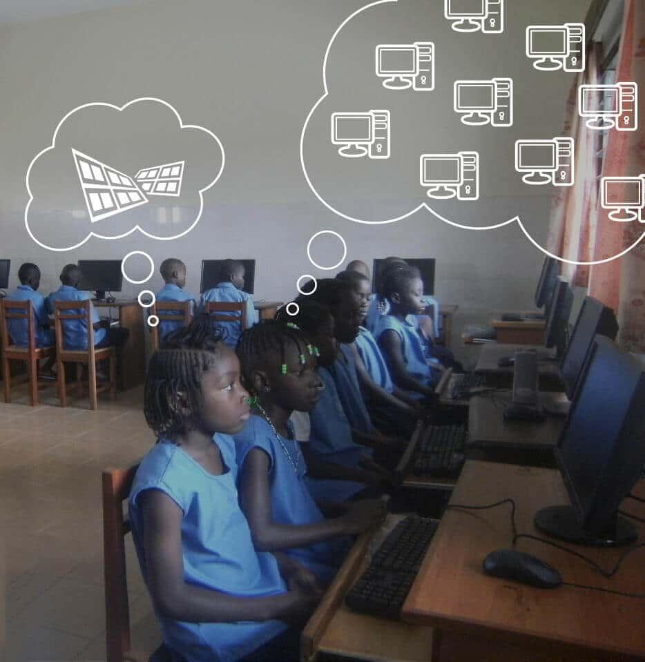 Renovación aula de informática en Kinshasa (RD del Congo)