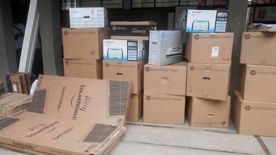 Materiales recibidos en el almacén