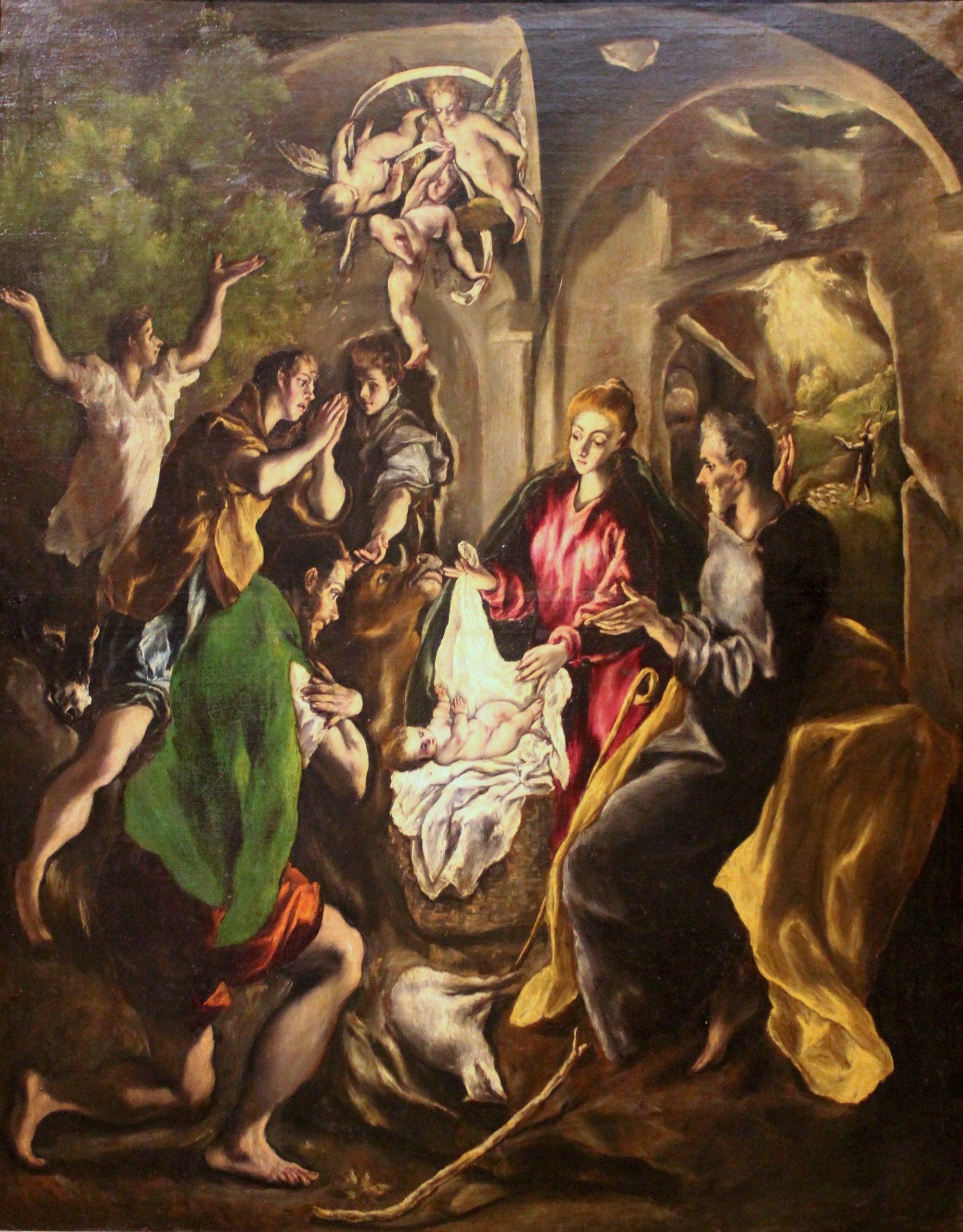 La adoración de los pastores, de El Greco (Museo del Patriarca de Valencia)