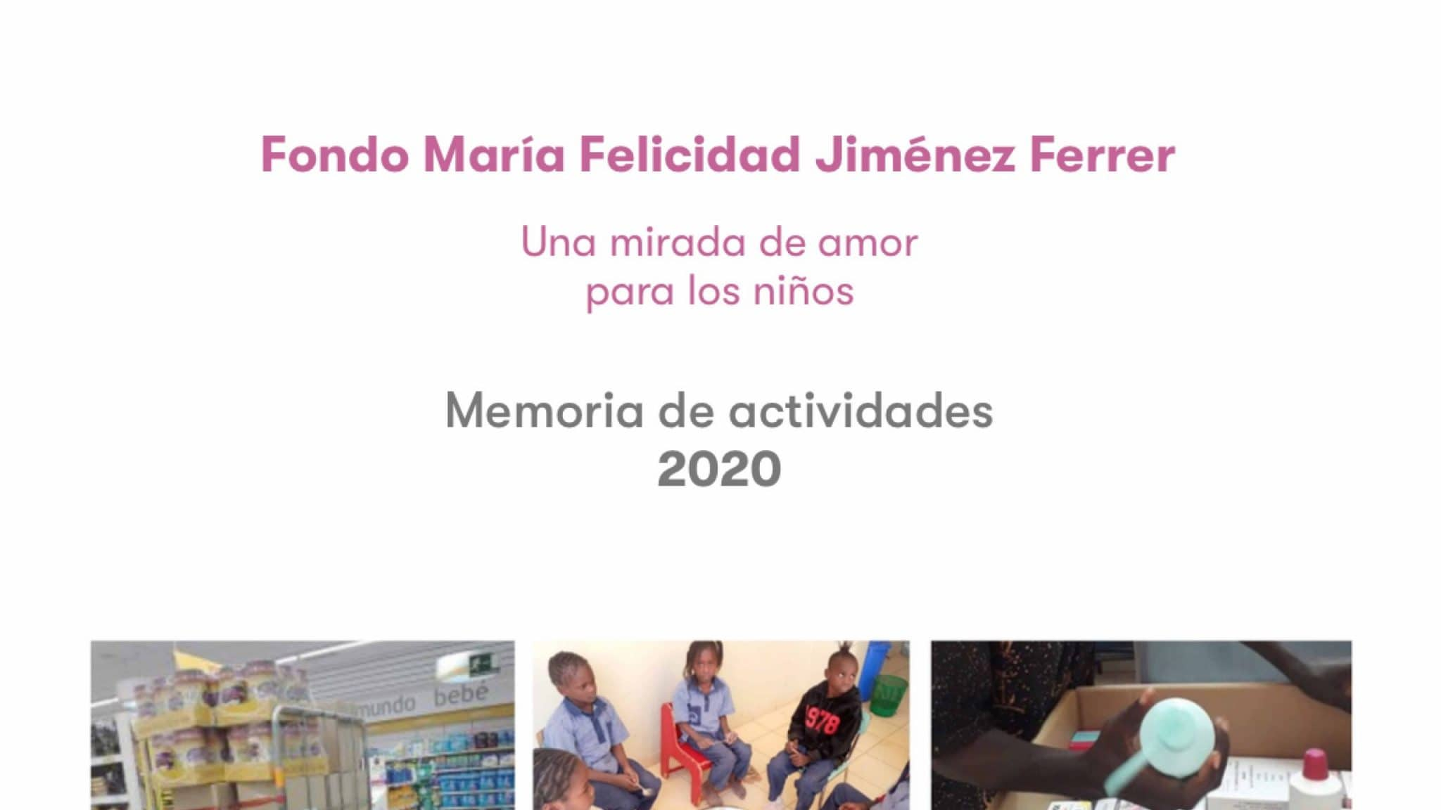 Memoria de actividades del 2020